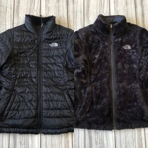 The North Face reversible Puffer/Osito jacket. EUC